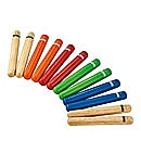 NINO Percussion houten claves, 6 paar