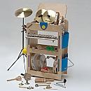 Muziekwagen met zijtassen