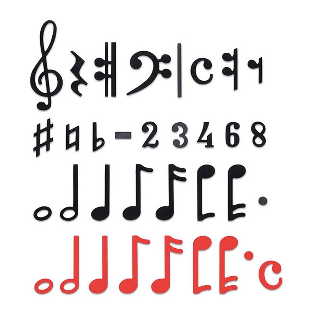 Magnetische muzieknotatie 240 stuks
