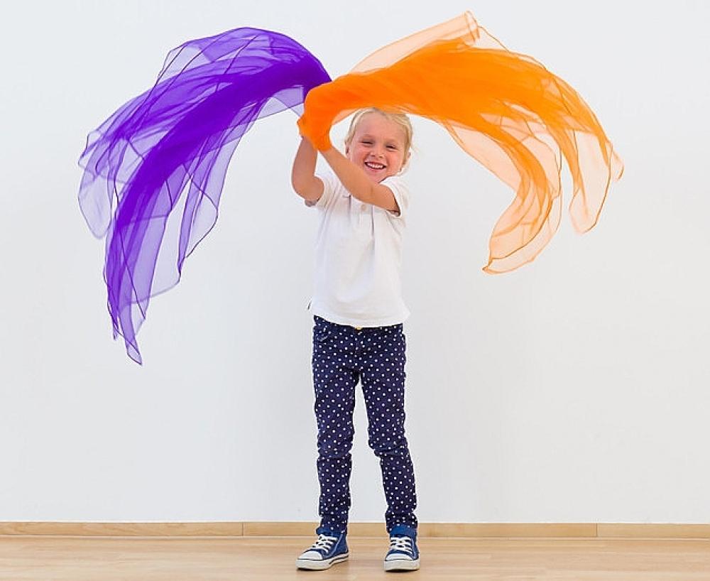 Kleurige speeldoeken 140cm (sjaaltjes)